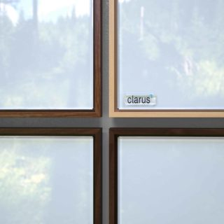 Corners of four Clarus glassboards
