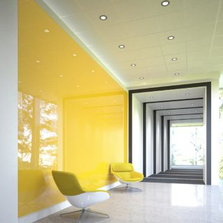 Yellow Wall2Wall glassboards with yellow chairs