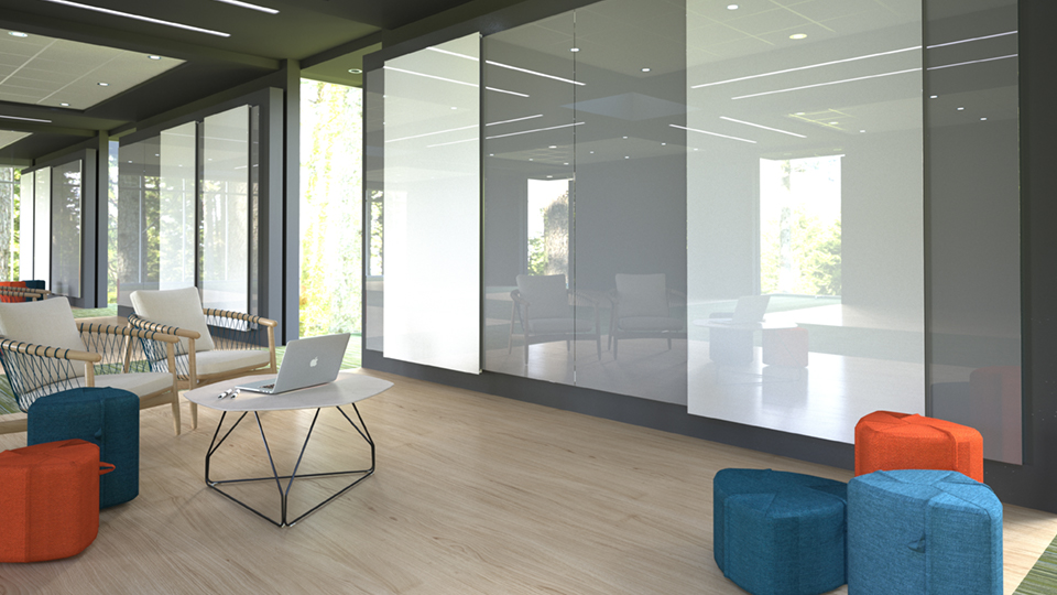 Glide glassboards in office collaborative space