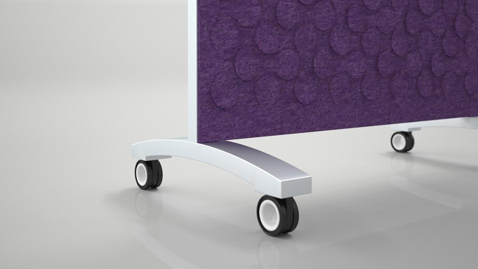 Base of go! Mobile with Purple Acoustic Felt