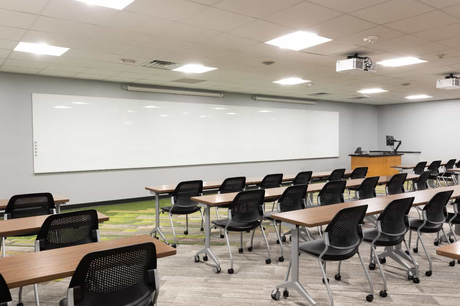 Float + Depth Wall Mounted Glass Writing Boards